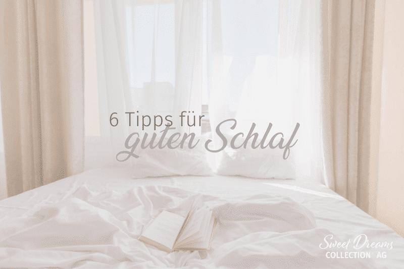 Beitragsgrafik zum Thema schlafzimmer gesund einrichten - sechs tipps fuer guten schlaf